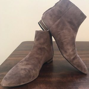Zara Woman grey suede ankle booties